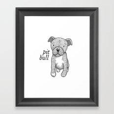 Dog Breeds: Pit Bull Framed Art Print