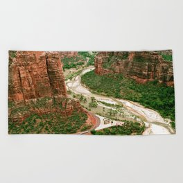 Zion Canyon Beach Towel