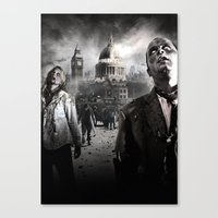zombies Canvas Prints featuring Zombies by Joe Roberts