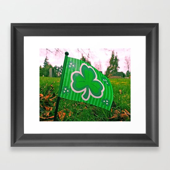 Shamrock flag Framed Art Print