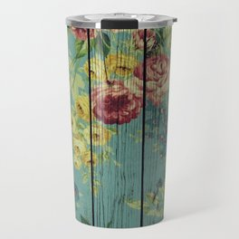 Flowers on Wood 08 Travel Mug