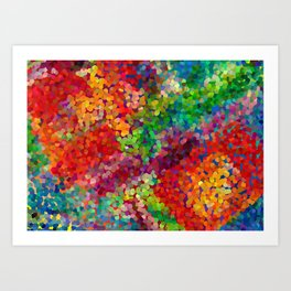 Color Theory Clash Art Print