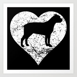 Distressed Cane Corso Heart Dog Owner Graphic Art Print