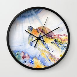 Going Up Sea Turtle Wall Clock