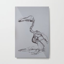 Dodo Skeleton  Metal Print