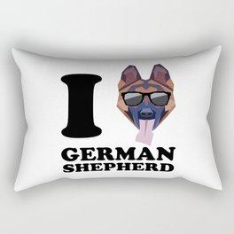 I Love German Shepherd modern v1 Rectangular Pillow