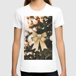 Photos New year Christmas tree Balls Bowknot Chris T-shirt