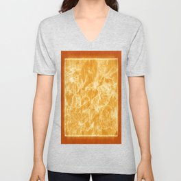 Mixed color Poinsettias 3 Outlined Orange Unisex V-Neck