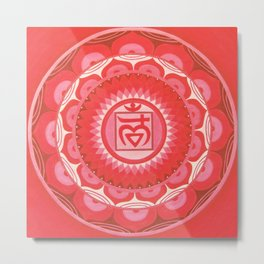 First chakra mandala Metal Print