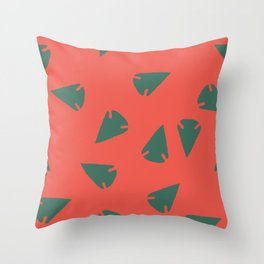 ARROWHEADS-RED Throw Pillow