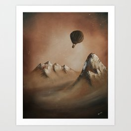 Around the world in 80 days by Jules Verne Art Print