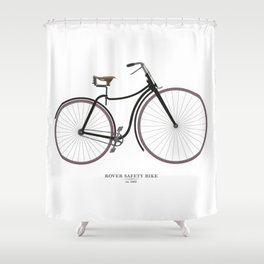Vintage Rover Safety Bike Shower Curtain