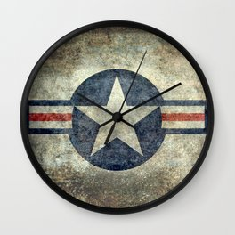 USAF vintage retro style roundel Wall Clock