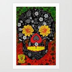 Russian Sugar Skull Art Print