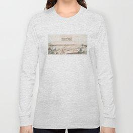 Vintage Pictorial View of Trenton NJ (1851) Long Sleeve T-shirt