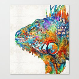 Colorful Iguana Art - One Cool Dude - Sharon Cummings Canvas Print