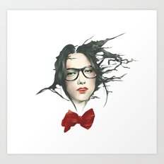 The Girls With Glasses ( fade ) Art Print