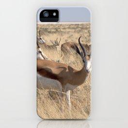 Springbok herd - Greg Katz iPhone Case