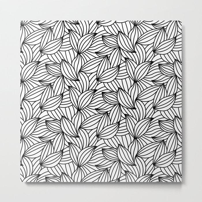 Abstract Lines Pattern Design 2 - Leaf Metal Print