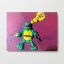 Red mask turtle Metal Print
