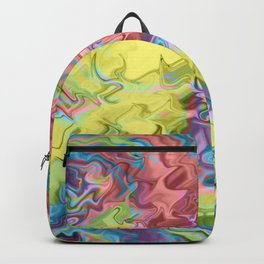 Lost in Thought; Fluid Abstract 56 Backpack