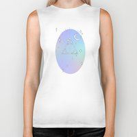 deathly hallows Biker Tanks featuring pastel deathly hallows // 2 by Milly Scarlett