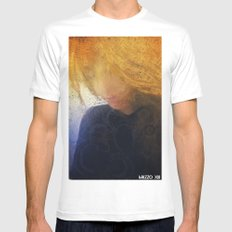 Thoughts in Disorder MEDIUM White Mens Fitted Tee