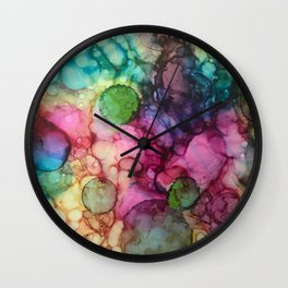 Abstract Inky Spots Wall Clock