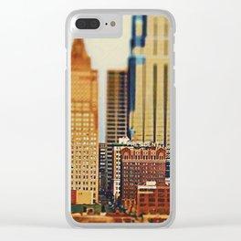Downtown Kansas City Tilt-Shift, Paint Effect Clear iPhone Case