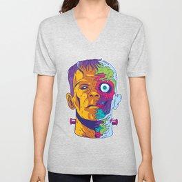 Frankenstein Psychedelic Unisex V-Neck