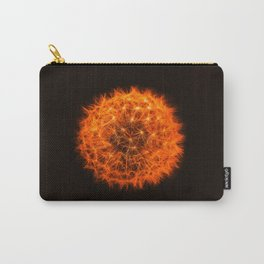 Orange Dandelion macro photo Carry-All Pouch