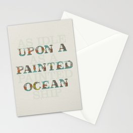 Upon a Painted Ocean Stationery Cards