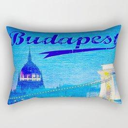 Budapest, light blue Rectangular Pillow