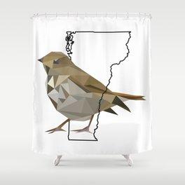 Vermont – Hermit Thrush Shower Curtain