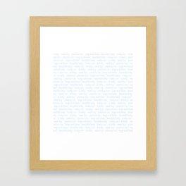 Baby Boy Typography Framed Art Print