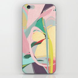 Shapes and Layers no.23 - Abstract Draper pink, green, blue, yellow iPhone Skin
