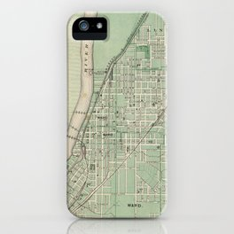 Vintage Map of Lafayette Indiana (1876) iPhone Case