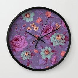 Hopeless Romantic - lavender version Wall Clock