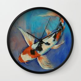 Sanke Butterfly Koi Wall Clock