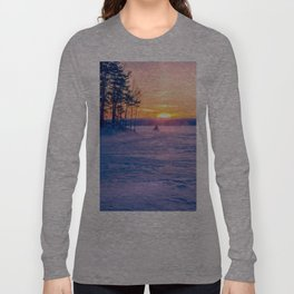 Snowmobile race Long Sleeve T-shirt