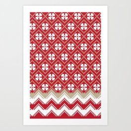 Glove in Red Art Print