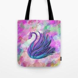 Swan on Blur Tote Bag