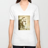 master chief V-neck T-shirts featuring Chief by Kimball Gray