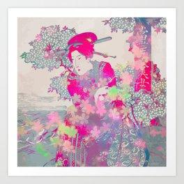 Pink geisha Art Print