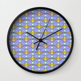 Seamless pattern with abstract elements Wall Clock