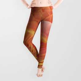 Pink and Yellow Moon Leggings