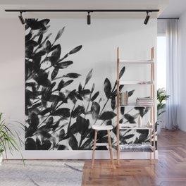 Foliage Series no1 white Wall Mural