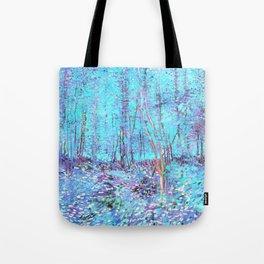 Van Gogh Trees & Underwood Aqua Lavender Tote Bag