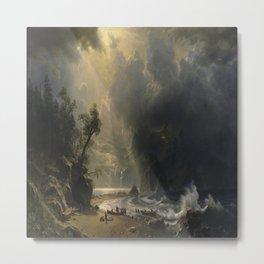 Albert Bierstadt's Puget Sound on the Pacific Coast Metal Print