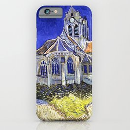 Van Gogh, The Church in Auvers-sur-Oise 1890, Artwork Reproduction, Posters, Tshirts, Prints, Bags, iPhone Case